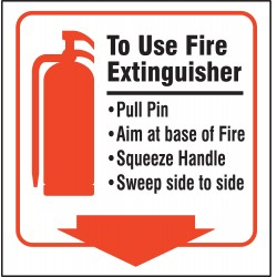 Accuform Signs - PSP726 - Fire Extinguisher Sign, 8 x 8In, PS, ENG