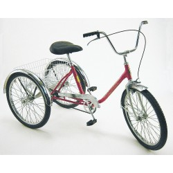 Other - EXEC-CB-YEL - Tricycle, Rear Basket, 24 In Wheel, Yellow