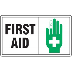Accuform Signs - MFSD594VS - Info Sign First Aid 7x10 Self Adhesive 29 Cfr 1910.145 Accuform Mfg Inc, Ea