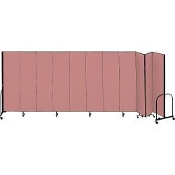 Screenflex - CFSL4011 MAUVE - 20 ft. 5 in. x 4 ft., 11-Panel Portable Room Divider, Mauve