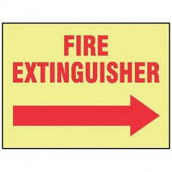 Accuform Signs - MLFX545GF - Fire Extinguisher Sign, 10 x 14In, R/YEL