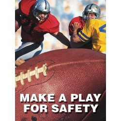"Accuform Signs - PST120 - Accuform Signs 24"" X 18"" Vinyl Safety Poster ""MAKE A PLAY FOR SAFETY"""