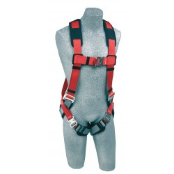 Protecta - 1191253 - PRO Full Body Harness with 420 lb. Weight Capacity, Red, M/L