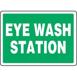 Accuform Signs - MFSAD31VS - Info Eye Wash Station 10x14 Se, Ea