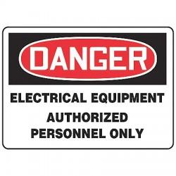 Accuform Signs - MELC165VP - Danger Sign Electrical Equipment 7x10 Plastic Regusafe Ansi Z535.2-1998 Accuform Mfg Inc, Ea