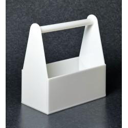Bel-Art - F16963-0000 - Bottle Carrier 1 Section Polyethylene 500 Ml White Bel-art 14 1/2 Inx15 Inx7 1/2, Ea