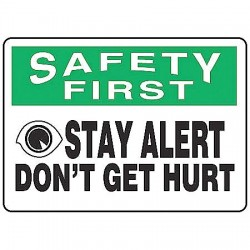 Accuform Signs - MGNF975VP - Info Sign Dont Get Hurt 7x10 Plastic Ansi Z535.2 - 1998 Accuform Mfg Inc, Ea