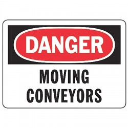 Accuform Signs - MECN002VS - Danger Sign Moving Conveyor 7x10 Self Adhesive Regusafe Ansi Z535.2 - 1998 Accuform Mfg Inc, Ea