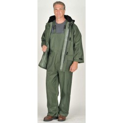 Viking - 2900G-L - Men's Green 150D Rip-Stop Polyester 3-Piece Rainsuit with Hood, Size: L, Fits Chest Size: 42 to 44