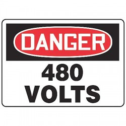 Accuform Signs - MELC058VA - Danger Sign, 7 x 10In, R and BK/WHT, AL, ENG