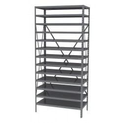 Akro-Mils / Myers Industries - AS1279 - Bin Shelving 0 Bin 75x36x12 Akromils 22 Gauge Steel 13 Shelves 350 Pound 88 Pound, Ea