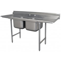 Advance Tabco - 9-2-36-24RL - Stndng Sink / Drainboard 2 Compartment Advance Tabco 430 Stainless Steel 41 1/2 In Hx85 In Lx27 In D 16 Gauge, Ea
