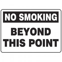 Accuform Signs - MSMK943VA - Info Sign No Smoking Beyond 7x10 Aluminum Ansi Z535.2 - 1998 Accuform Mfg Inc, Ea