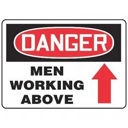 Accuform Signs - MCRT016VA - Danger Sign Men Working 10x14 Aluminum Regusafe Ansiz535.2-1998 Accuform Mfg Inc, Ea