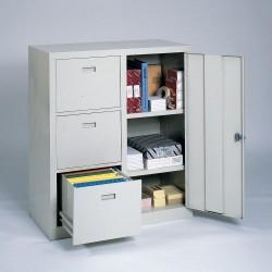 Edsal - 3800-BLK - Combo Cabinet, Black, Steel