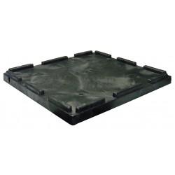 Orbis - CKD3230-1 - Bulk Container Lid, Black, 2H x 32-3/4L x 30-5/8W, 1EA