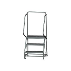 Ballymore / Garlin - H326G - 3-Step Rolling Ladder, Serrated Step Tread, 58-1/2 Overall Height, 450 lb. Load Capacity