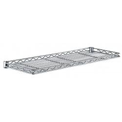 Metro (InterMetro) / Emerson - 1242CSNC - 42 x 12 x 1-1/4 Steel Cantilever Shelf, Silver; PK1
