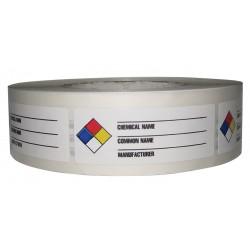 Harris - LB131849 - NFR Label, Paper, 3-1/8 In. W, PK1000