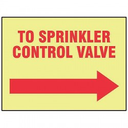 Accuform Signs - MLFX553GF - Fire Sprinkler Control Valve Sign, R/YEL