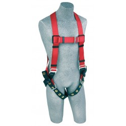 Protecta - 1191238 - PRO Full Body Harness with 420 lb. Weight Capacity, Red, XL