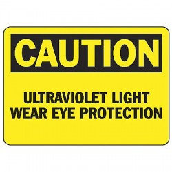 Accuform Signs - MRAD630VP - Caution Sign Uv Light 7x10 Plastic Ansi Z535.2-1998 Accuform Mfg Inc, Ea