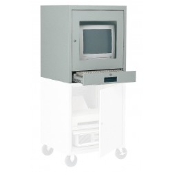 Edsal - CSC6900AGY - 21 x 22-1/2 x 26 Steel CRT Monitor Cabinet, Light Gray