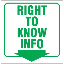 Accuform Signs - PSP371 - Sign, 6x8-1/2 In, Right To Know Info