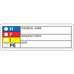 Harris - LB131851 - HMIG Label, 1-1/8 In. H, 3-1/8 In.W, PK1000