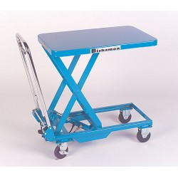 Bishamon - BX-50 - Lift Table Mobile Scissor Bishamon 1100 Pound 17.5 - 39.25 In 39 3/4 Wx20 1/2 L, Ea