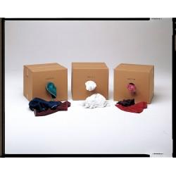 Hospeco - 245-25 - Assorted Cotton T-shirt Cloth Rag, 25 lb. Box, 1EA