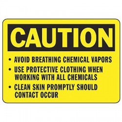 Accuform Signs - MCHL636VS - Caution Sign Avoid Breathing 7x10 Self Adhesive Ansi Z535.2-1998 Accuform Mfg Inc, Ea
