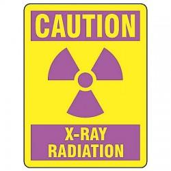 Accuform Signs - MRAD702VA - Caution Sign X Ray Radiation 14x10 Aluminum 29 Cfr 1910.1096 Accuform Mfg Inc, Ea