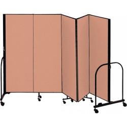 Screenflex - CFSL405 BEIGE - 9 ft. 5 in. x 4 ft., 5-Panel Portable Room Divider, Beige