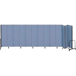 Screenflex - CFSL4013 BLUE - 24 ft. 1 in. x 4 ft., 13-Panel Portable Room Divider, Blue