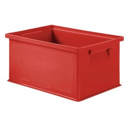 SSI Schaefer - 1463.130906RD1 - Straight Wall Container, Red, 6H x 13L x 9W, 1EA