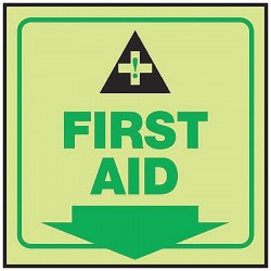 Accuform Signs - PSP865 - First Aid Sign, 6 x 8-3/4In, First Aid, ENG