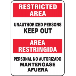 Accuform Signs - SBMADM906VS - Admittance Sign, 14 x 10In, BK and R/WHT