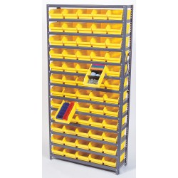 Quantum Storage Systems - 1239-102BK - 36 x 12 x 39 Bin Shelving with 2000 lb. Load Capacity, Black