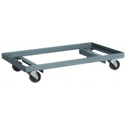Akro-Mils / Myers Industries - RD853HR1627 - 27L x 16W x 4-3/8H Gray General Purpose Dolly, 900 lb. Load Capacity