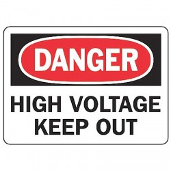 Accuform Signs - MELC127VA - Danger Sign High Voltage 7x10 Aluminum Regusafe Ansi Z535.2-1998 Accuform Mfg Inc, Ea