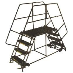 Ballymore / Garlin - DEP6-2448 - Rolling Work Platform, Steel, Dual Access Platform Style, 60 Platform Height