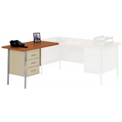 Edsal - LW4224PU - Left Desk Return, 42 x 29 x 24 In, Putty