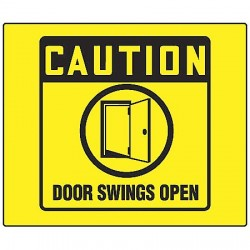 Accuform Signs - PSP233 - Door Instruction, Caution, Plastic, 8 x 8, Not Retroreflective