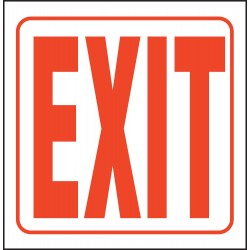 Accuform Signs - PSP221 - Accuform Signs 8' X 12' X 1 1/2' Red And White 0.100' Plastic Projection 90D Sign 'EXIT', ( Each )