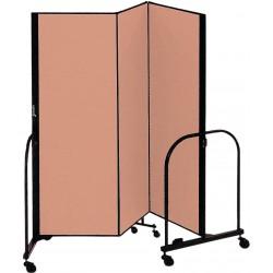 Screenflex - CFSL403 BEIGE - 5 ft. 9 in. x 4 ft., 3-Panel Portable Room Divider, Beige