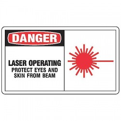Accuform Signs - LRAD002VSP - Safety Label, 3-1/2 In. H, 5 In. W, PK5
