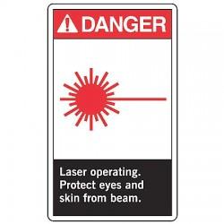 Accuform Signs - LRAD001VSP - Dngr Sign Lsr Opertg 5x3 1/2 S, Pk