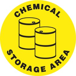 Accuform Signs - MFS1217 - Floor Sign Chemical Storage Area 17 In Adhesive, Ea
