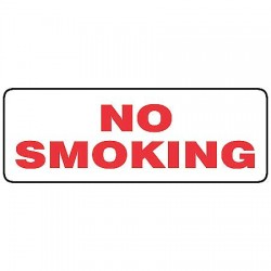 Accuform Signs - MSMK406VP - No Smoking Sign, 5 x 14In, Pink/WHT, PLSTC
